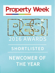 Property Week RESI Awards 2016 – Newcomer of the Year - Shortlisted