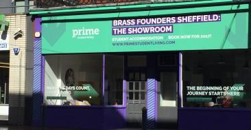 Brass Founders Show Flat