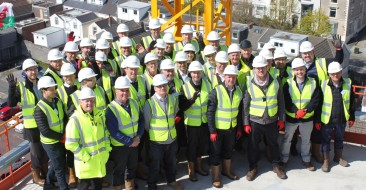 Topping out event